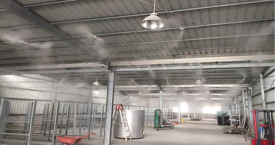 Lắp đặt thi công hệ thống phun sương cao áp ống đồng
