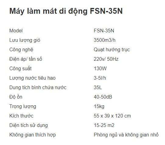 MÁY LÀM MÁT DI ĐỘNG FSN-35N