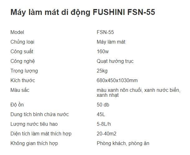 MÁY LÀM MÁT DI ĐỘNG FUSHINI FSN-55