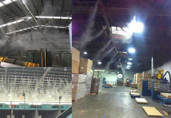 hệ thống phun sương công nghiệp