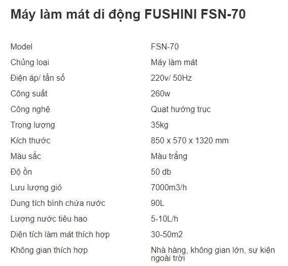 MÁY LÀM MÁT DI ĐỘNG FUSHINI FSN-70